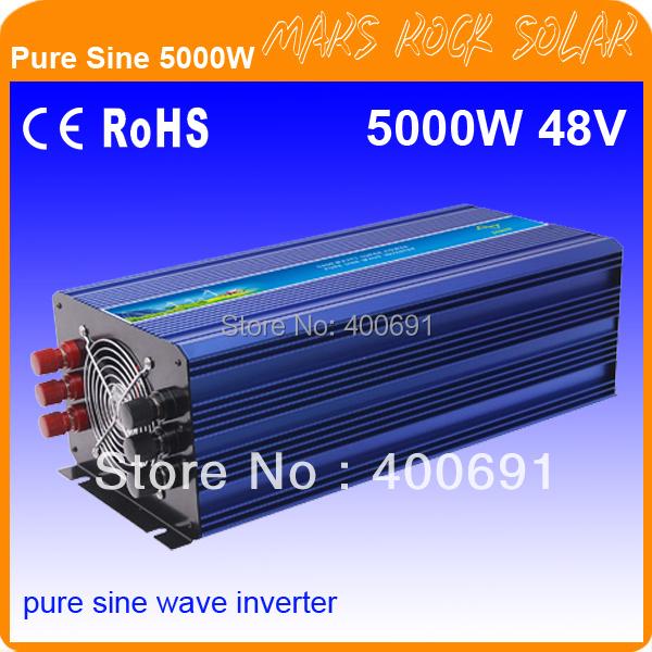 5000W 48VDC 100/110/120VAC or 220/230/240VAC Pure Sine Wave PV Inverter Off Grid Solar& Wind Power Inverter PV Inverter(China (Mainland))