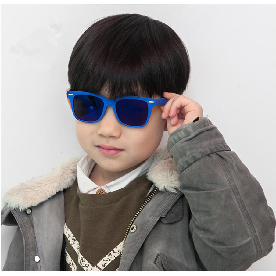 High Quality Fashion 100% UV400 Square Photochromic Lens Kids Sunglasses For Girls Boys Super Light Frame Black