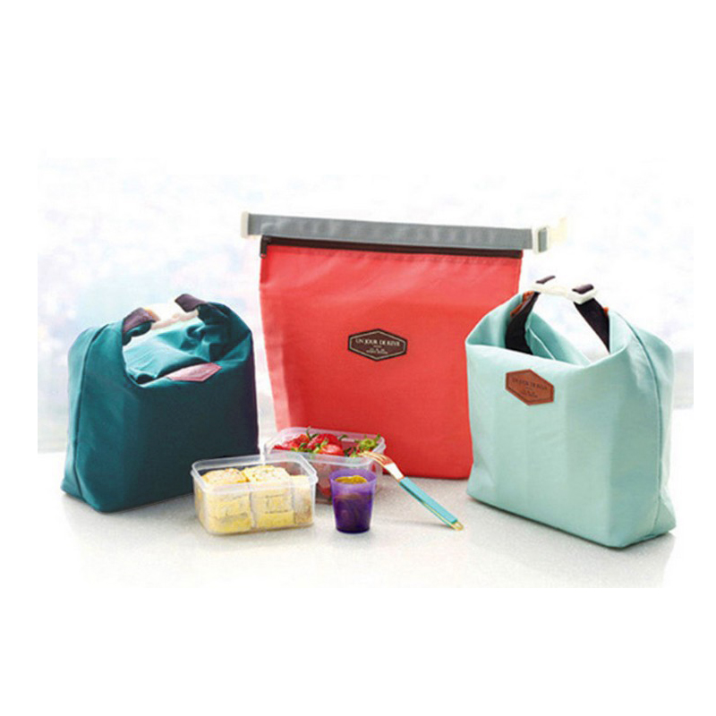 Waterproof Lunch Bag Thermal Cooling Compartment Organizer Bag Lunch Bag Pouch Hot and Cooling Boxes Storage Bag(China (Mainland))