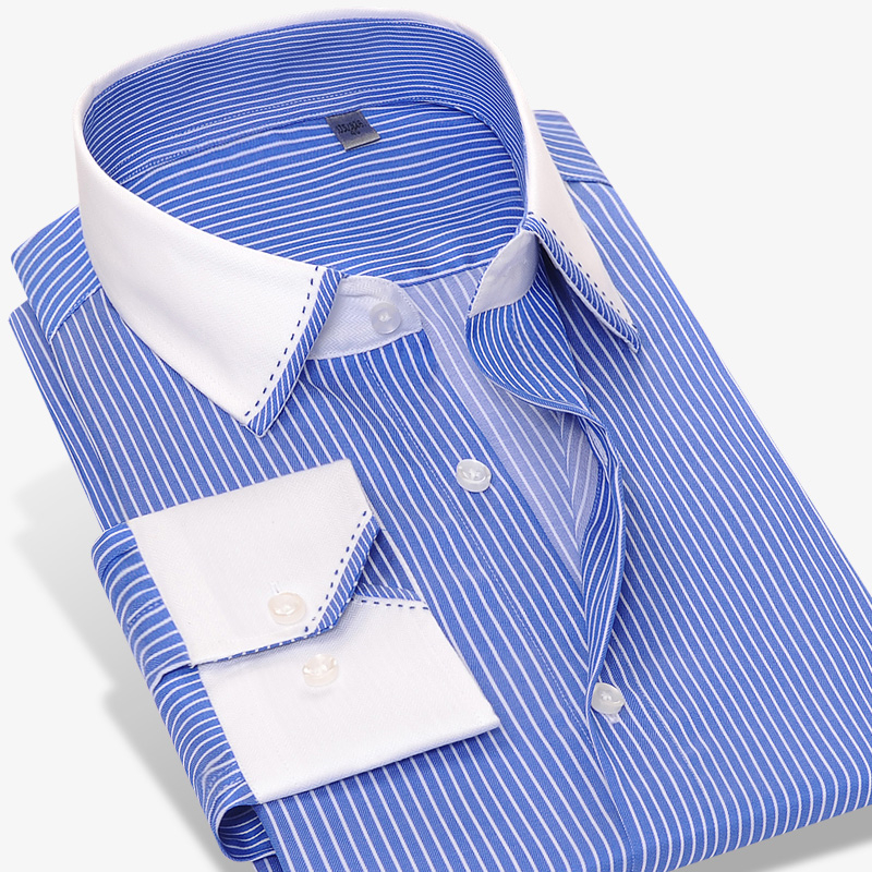 Popular Dress Shirts With White Collars And Cuffs Buy