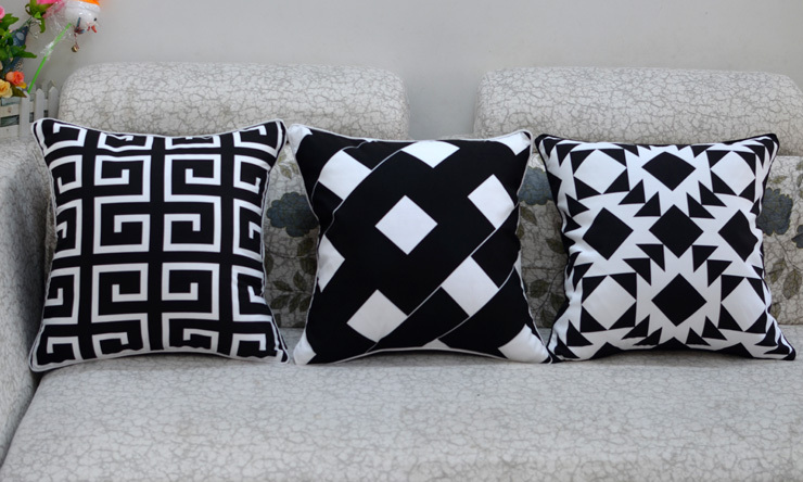 Black and white fashion creative IKEA sofa chair cushion