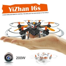 YiZhan I6S Helicopter Mini Drone with Camera 720P Aircraft 2.4G 4CH 6 Axis Stable flight RC Quadcopter