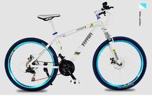 "NEW 21/24/27 Speeds 26"" Bicicletas Shocking Suspension Aluminium Alloy Fork Oil Disc Brake Bicicleta Mountain Bike 26 Bead Pedal(China (Mainland))"