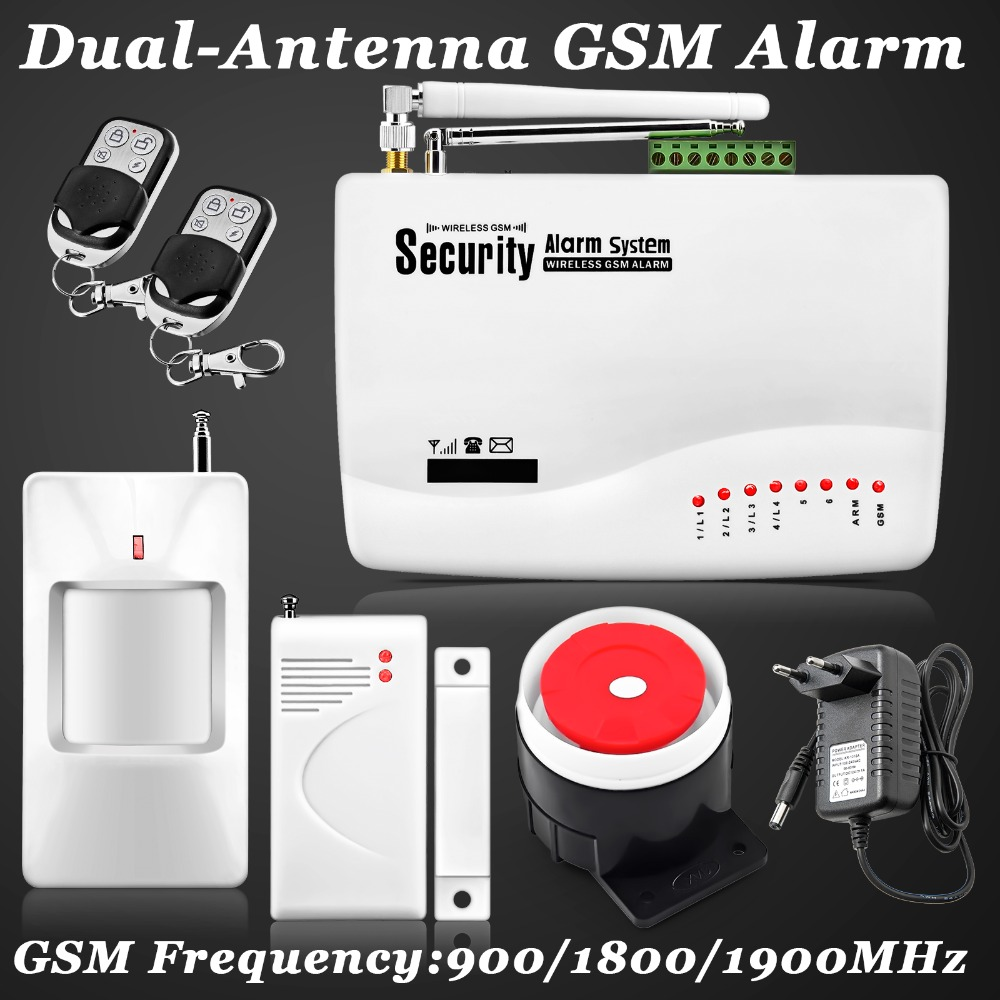New Wireless/wired GSM Voice Home Security Burglar Android IOS Alarm System Auto Dialing Dialer SMS Call Remote control setting(China (Mainland))