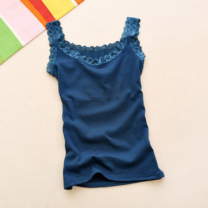 2015 New Summer Women Sleeveless Lace Sexy Tops Ladies Fashion Multicolors Strap Tank Vest 16 Colors(China (Mainland))