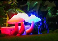 2015 New Kids Gift Small Mushroom Table Lamp Colorful LED Night Light For Children Discolor Night Light Insect 5pcs/lot RM008