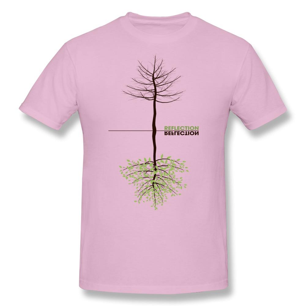 Unique Newest Reflection Men's t shirt Organic Cotton Casual man's t shirt(China (Mainland))