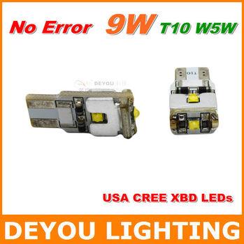 No Error CREE XBD 9W Canbus T10 LED Bulb Car Reverse Turn Signal Light Lamp Xenon White W5W 194 168 921 555