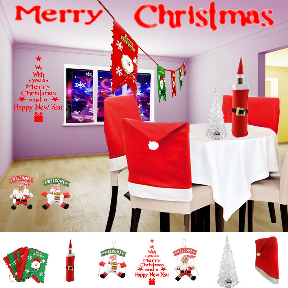 Christmas Decoration Santa Claus Wine Bottle Cover Hat Cap Xmas Holiday*Christmas Decoration Bottle set(China (Mainland))