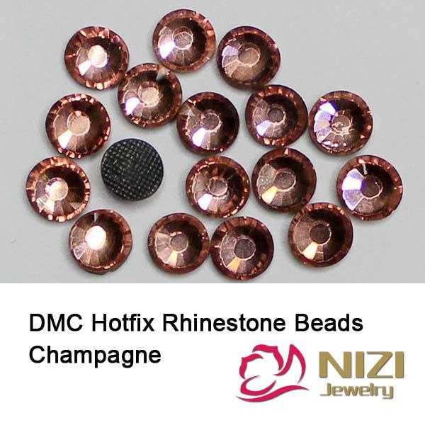 Wholesale Champagne Glass Beads Fashion DIY Beads For Wedding Designs Flatback DMC Hotfix Rhinestone For Garment Round DIY Beads<br><br>Aliexpress