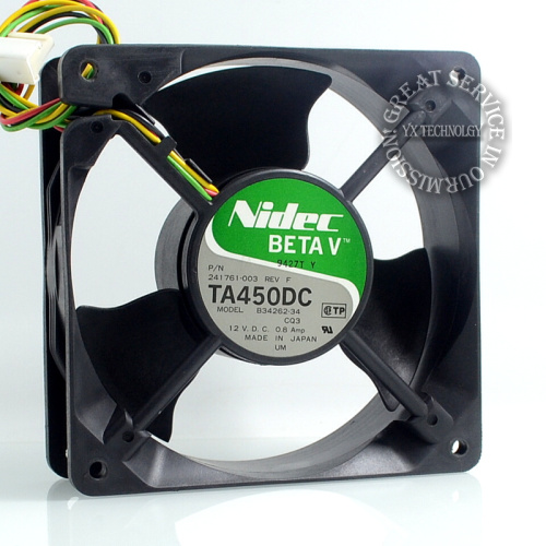 New TA450DC B34262-34 12V 0.8A 12038 12cm large air flow cooling fan for NIDEC 120*120*38mm<br><br>Aliexpress