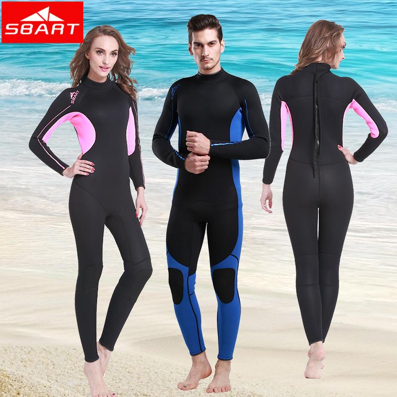 SBART 2015 Surfing Wetsuits Women Men Long Sleeve Scuba Diving Suit Woman Windsurf Wet Suit 3mm Swimwear Blue Pink Wetsuit J1013(China (Mainland))