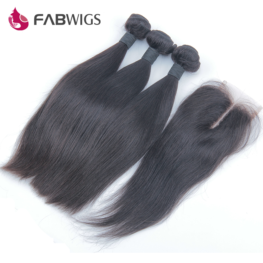 Peruvian Virgin Hair Straight with Closure 3 pcs Human Hair Bundles With Lace Closures Unprocessed Human Hair Weave With Closure(China (Mainland))