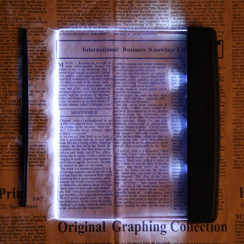 High Quality Reading Lamp Creative Plastic LED Light Panel Lightwedge Books Reading Lamp Light Book Lights Free Shipping(China (Mainland))