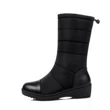 ONLYWONG 2016 Nueva Alta Calidad Del Invierno de las mujeres botas de piel Gruesa muy señoras calientes de la nieve botas con cordones botas de mujer de invierno zapatos(China (Mainland))
