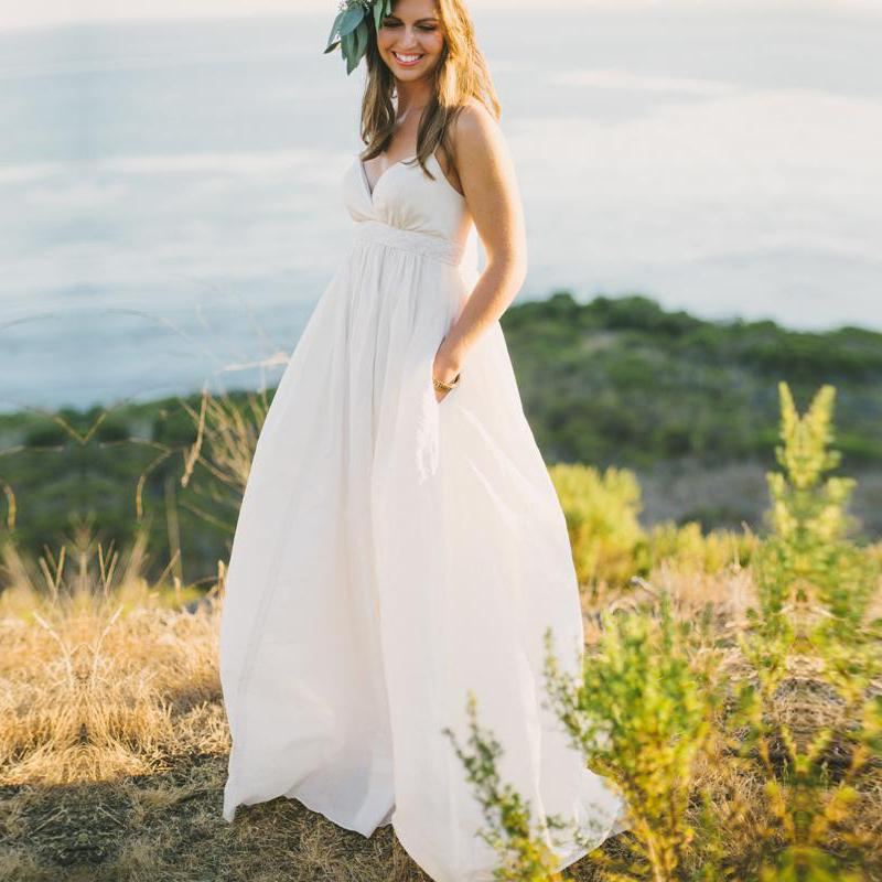 Buy 2015 chiffon beach wedding dresses for Buy beach wedding dress