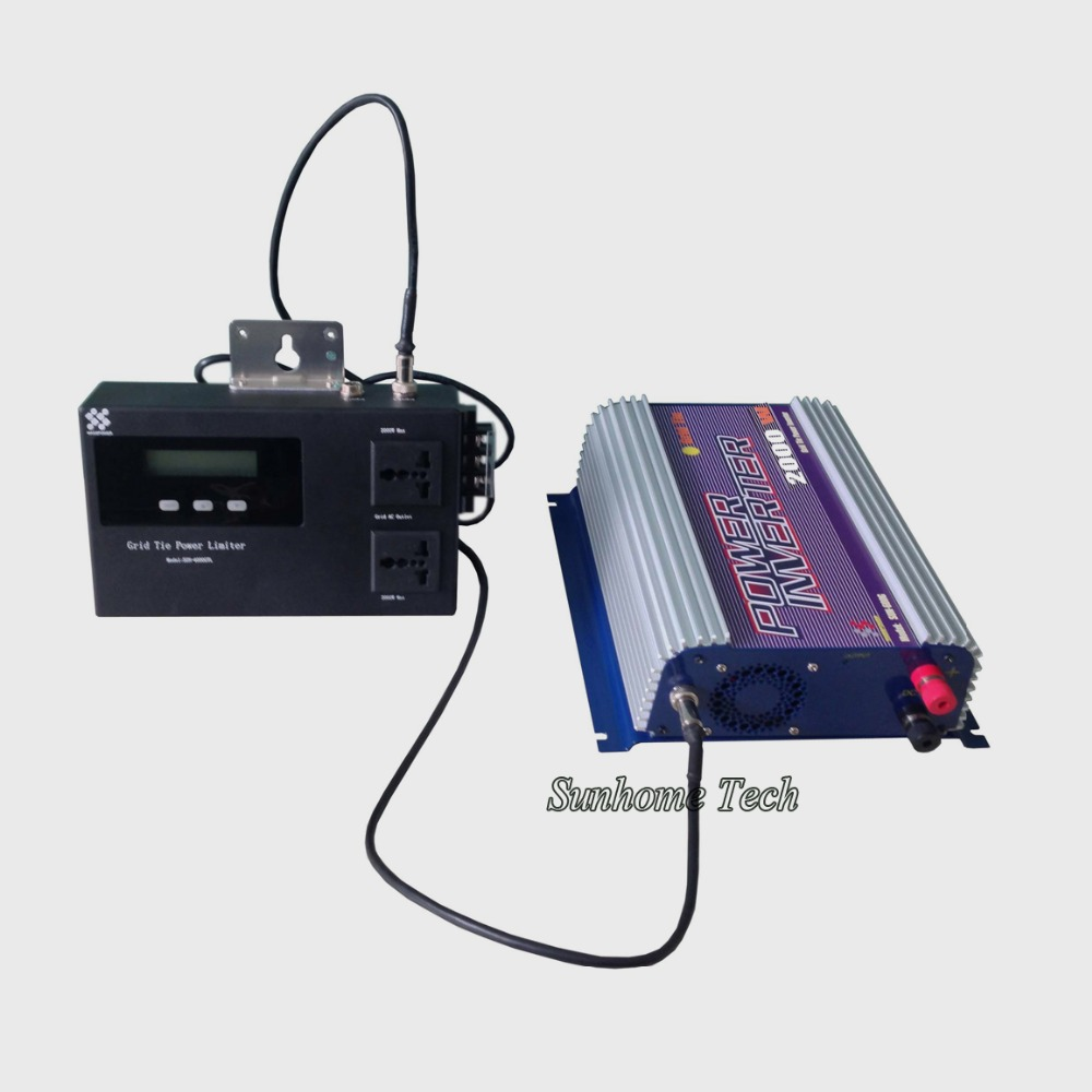 2000W solar grid tie inverter with power limiter prevent extra power to grid,pure sine wave,mppt solar grid tie inverter(China (Mainland))