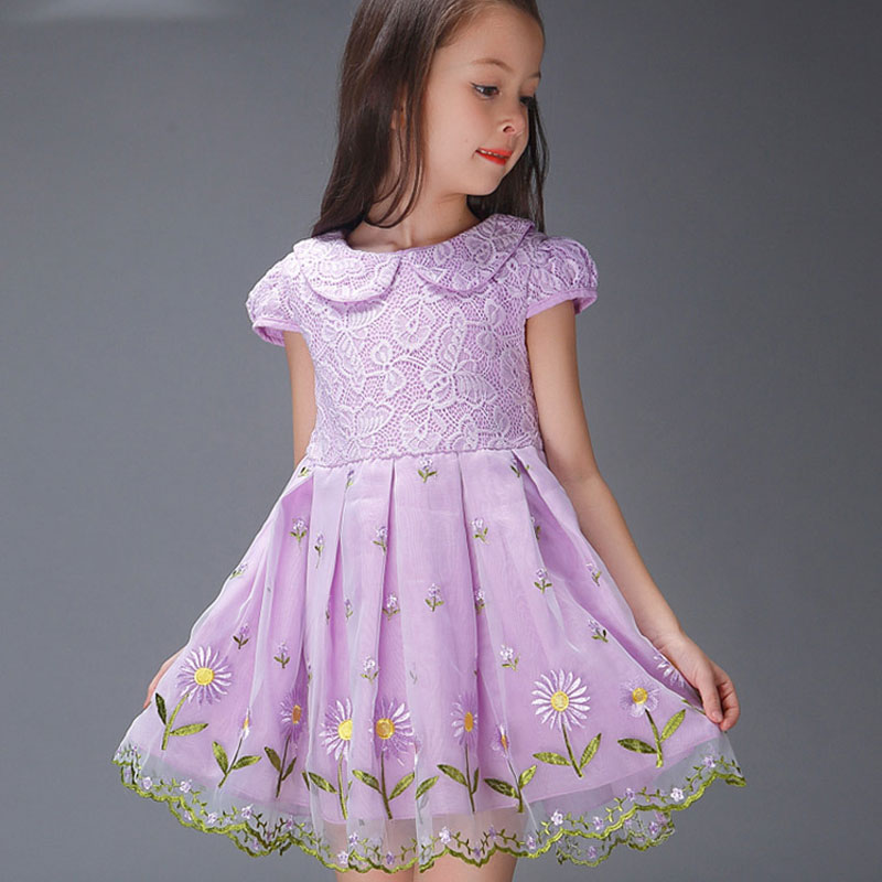 HOT selling 2016 new summer cotton dress One-Piece girl Princess Dresses flower cute Dress Children Clothes Kids girl Clothing(China (Mainland))