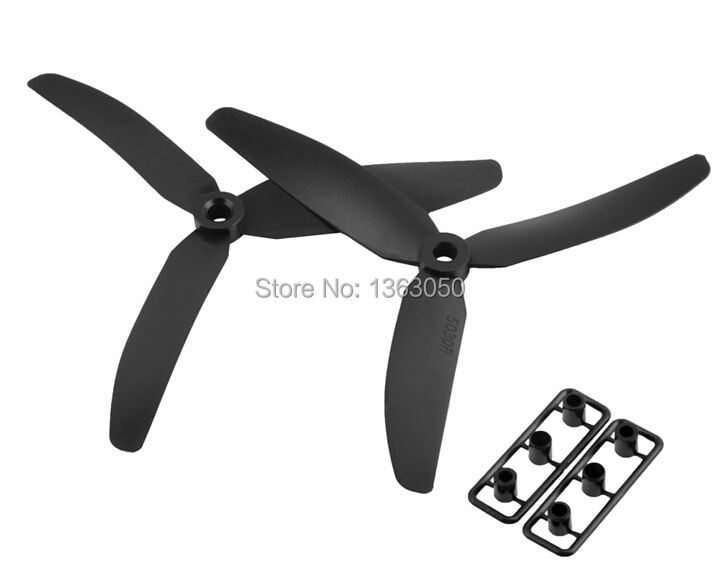 Free shipping 10 pair/lot 5030 Propeller three Blade Remote Control Multicopter Helicopter for QAV 250 DIY Drones quadcopter toy(China (Mainland))