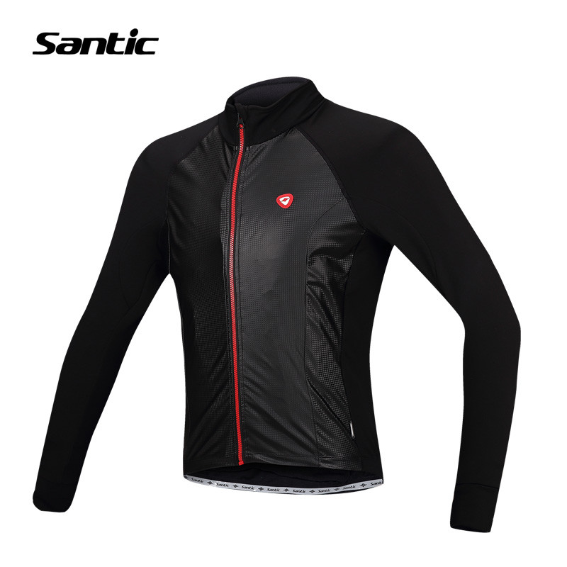 Фотография Santic Cycling Spring Jersey Long Sleeve Warmer Fleece ciclismo invernale Cheap-Bikes Clothings Men blusa masculina MC01048