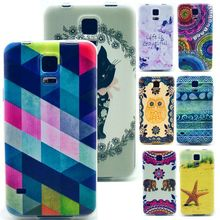 S5 Mini Case Soft Tpu Gel Case Cover For Samsung Galaxy S5 Mini G800 Clear Side Protective Phone Cases S5 Mini Colored Gird 1PCS