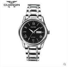 Top Brand Luxury GUANQIN Waterproof Fashion Quartz Watches Men 2015 Sapphire Mirror Luminous Wristwatch Men Watch