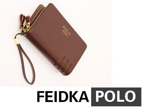 2014 Brand POLO Cowhide Casual Genuine Leather Wallet Men Clutch Fashion men bag handbag WDC1001 - Tribe 0001 store