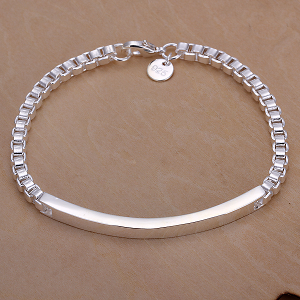 Mens Jewelry 925 sterling silver fashion 5mm box chains 8 bracelet bangle H079 gift box free shipping<br><br>Aliexpress