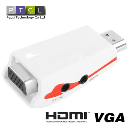 Full HD 1080P HDMI to VGA splitter Adapter for Power and Audio Computer PC Connector computer Video Terminal(China (Mainland))