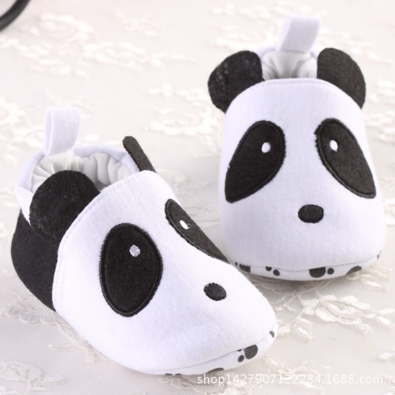 New style baby girl boy panda cute animal white black Baby Moccasins shoes toddler kid child First Walker soft sole prewalker(China (Mainland))