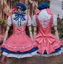 New Minami Kotori Lolita Pink Kawaii Dress Top Skirt Anime Love Live Cosplay Costume Hot Sale