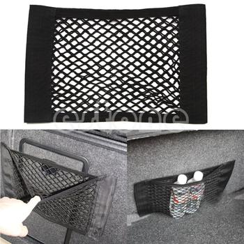 E93 2016 newest 1PC Car Back Rear Trunk Seat Elastic String Net Mesh Storage Bag Pocket Cagefree shipping
