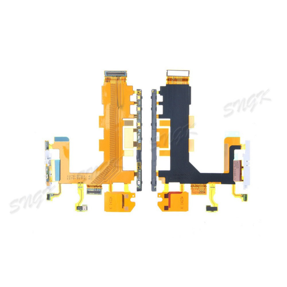 for Sony Xperia Z2 L50W Power Button / Volume Switch Flex Cable w/ Microphone Replacement D6502 D6503 D6543 Repair Parts(China (Mainland))