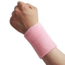 1Pcs Unisex Cotton Brand Sports Band Wristband Wrist Support Protector Sweatband Basketball/ Tennis/ Badminton Sports Safety(China (Mainland))