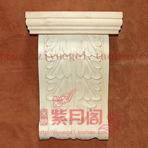 Wood carving dongyang wood carving yakou solid wood corbel first door yakou decoration column(China (Mainland))