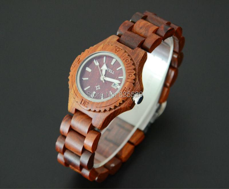wooden watches 2015 in gift box wristwatch unique