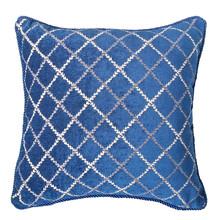 Sapphire lace Diamond Chenille Square Pillow Case