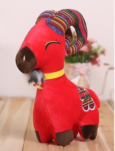 Chinese wind, mascot, cute plush toys, doll sheep creative cloth dolls, children's gifts(China (Mainland))
