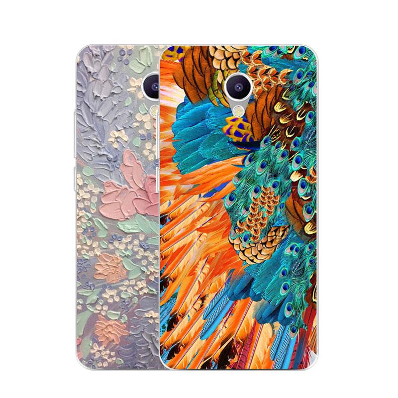 Meizu m5 note Case,Silicon Graffiti 3D relief Painting Soft TPU Back Cover meizu m5note 5.5 Transparent Phone Bags
