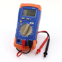 DC AC Voltage Current Resistance Test Meter Probe Leads Multimeter Orange Blue(China (Mainland))