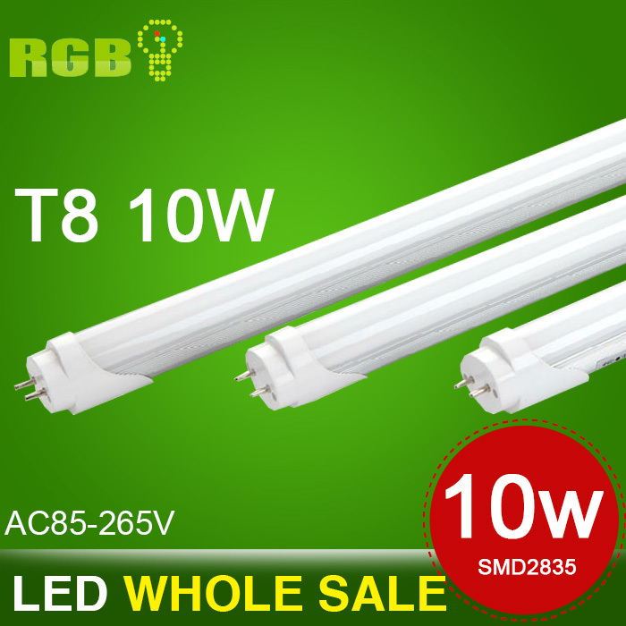 Free Shipping Wholesale 600mm 10w led T8 led tube lamp Top quality SMD 2835Warm /Cool White/Red/yello/bule/green 830lm CE & ROHS(China (Mainland))