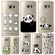 Buy Samsung S6 S6Edge Plus Cartoon Art Printed Panda Case Cover Transparent Soft Silicone Back Skin Phone Shell Bags Slim Fundas for $1.34 in AliExpress store