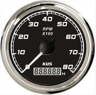 brand new diesel,gasoline engine tachometer 8000rpm with backlight 12v / 24v fit for truck,bus,boat(China (Mainland))