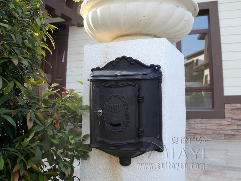 Excellent Quality Metal Letter Box Wall Mounted Post Mail Box Mailbox Postbox Letterbox(China (Mainland))