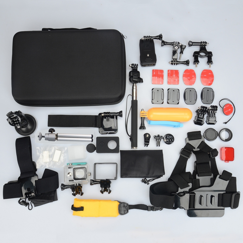 35in1 Waterproof Case Chest Head Mount Strap Frame Bag Accessories For Xiaomi Yi