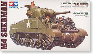 Tamiya assembled Chariot Model 35190 1/35 U.S. M4 Sherman early type tank car armored vehicles(China (Mainland))