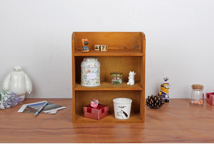 1PC 2016 Zakka vintage retro multilayer wood furniture storage cabinets hanging wall wood storage box J0944(China (Mainland))