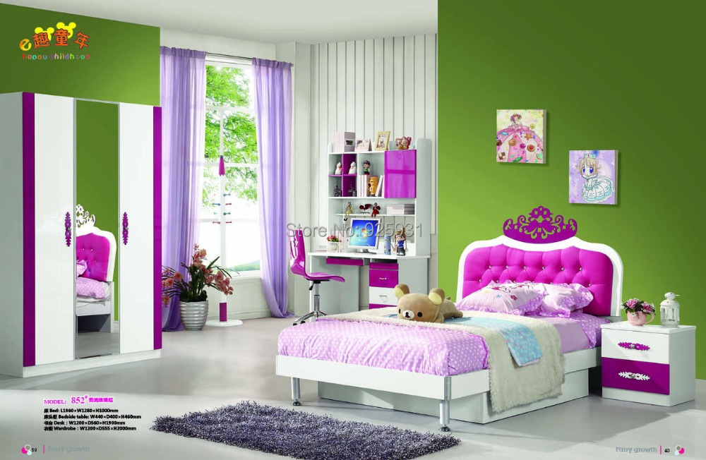 model 852 princess bedroom set child bed room furniture