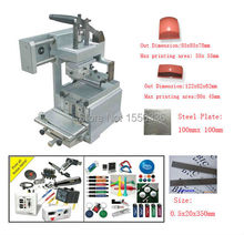 pad printing machine price with ink tray for printing lights, pens and other promotional objects