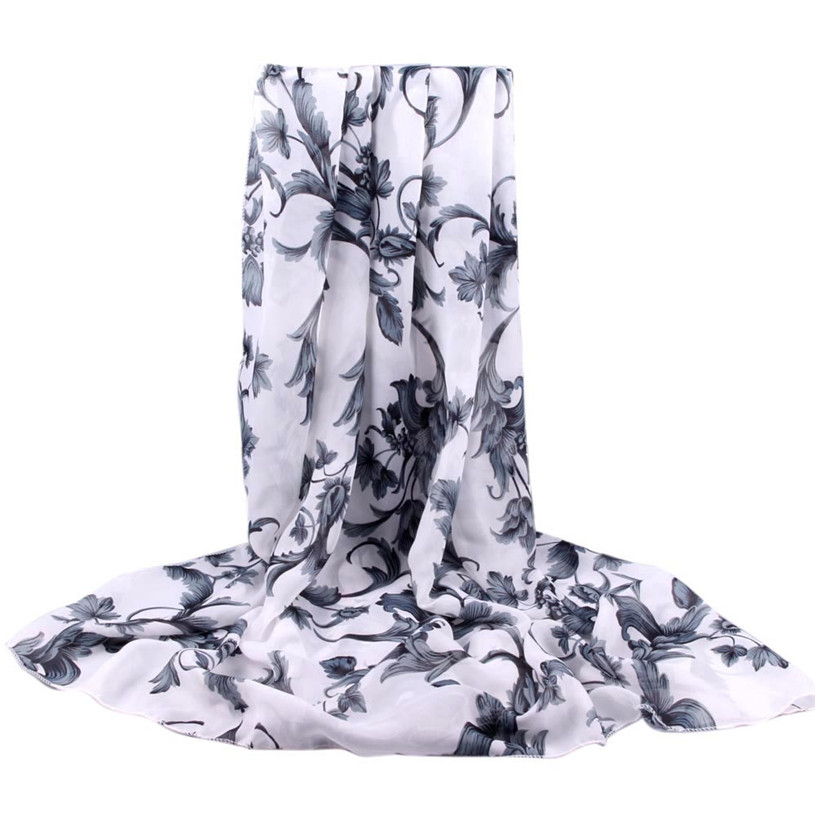 New brand scarf Wraps Chinese Style women's long shawl Floral printed tippet muffler echarpes chiffon Scarves 2016 Gift 1pcs(China (Mainland))